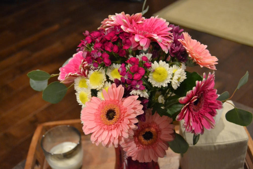 I came down with a cold on Tuesday, and Trav brought these home to cheer me up. He's a smart man.